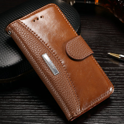 Luxury Flip Leather Case For iphone 8 Plus