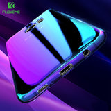 Aurora Blue Light Phone Cover Cases for Samsung Galaxy S6, S7, and S8 Edge.
