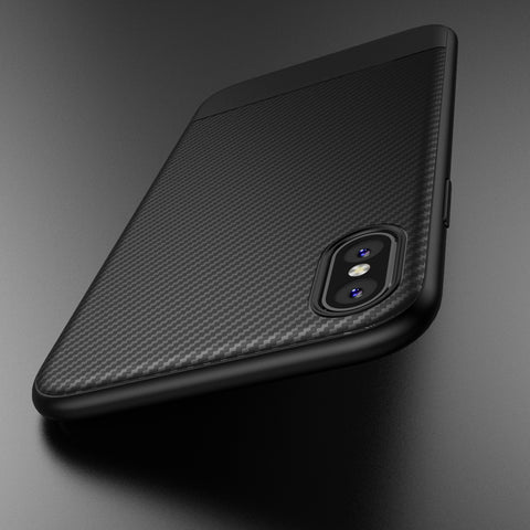 Carbon Fiber Back Cover CASE for Apple iphone X