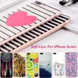 Color Painted Soft TPU Cover Cases for iPhone X/ 8/ 8 Plus/ 7/ 7 Plus/ 6/ 6s Plus/ 5/ 5s