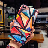 Abstract Art Frosted Back Cover Case for iPhone X/ 8/ 8 Plus/ 7/ 7 Plus/ 6/ 6 Plus/ 5/ 5S