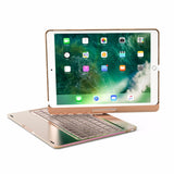 "360° 7 Color Backlit Aluminum Wireless Bluetooth Keyboard Case for IPAD Pro 9.7"" inch"
