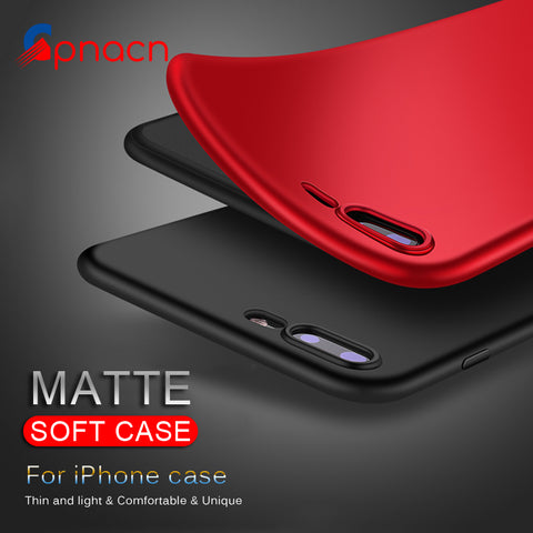 Matte Soft TPU Silicone Cover Case for iPhone X/ 8/ 8 Plus/ 7/ 7 Plus/ 6/ 6s Plus