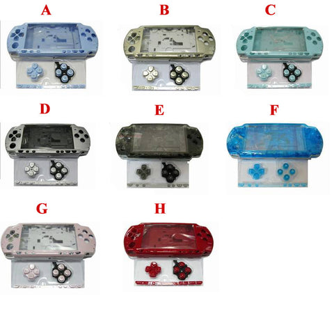 Glossy Shell Cover Case with buttons kit for PSP 2000