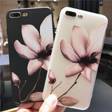 3D Floral Design TPU Silicone Cover Case for iPhone X/ 8/ 8 Plus/ 7/ 7 Plus/ 6/ 6s Plus/ 5/ 5s