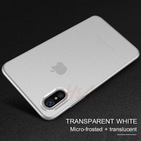 Ultra-thin Matte Transparent Cover Case for iPhone X