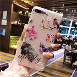 Vintage 3D Flower Design Soft TPU Cover Case for iPhone X/ 8/ 8 Plus/ 7/ 7 Plus/ 6/ 6s Plus/ 5/ 5s