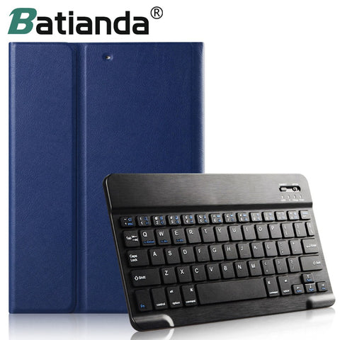 Faux Leather Smart Removable Bluetooth Keyboard Cover Case with Stand for iPad Mini 1/2/3