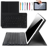 "2 in 1 Removable PU Leather Wireless Keyboard Cover Case for New iPad 2017/ Air/ Air 2/ Pro 9.7"" inch"