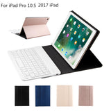 "PU Leather Wireless Bluetooth Keyboard Cover Case for iPad Pro 10.5"" inch"