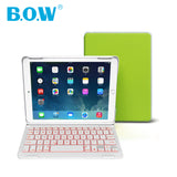 Backlit Light with Auto Sleep-Wake Wireless Bluetooth Keyboard Cover Case for iPad Air 2