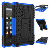 Shockproof Hybrid Hard Cover Case for Kindle Fire HD 7 with Stand Rubber