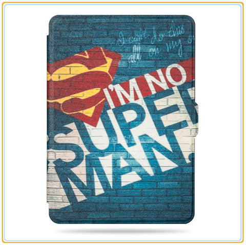 Cool Cartoon Character Design Magnetic PU Leather Cover Case for Kindle Paperwhite 1/2/3