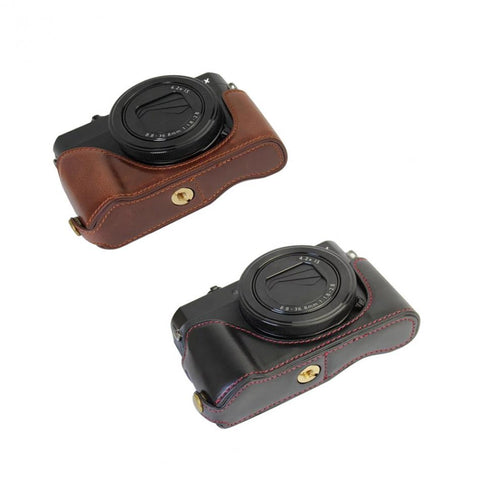 PU Leather Protective Bottom Case for Canon G7XII