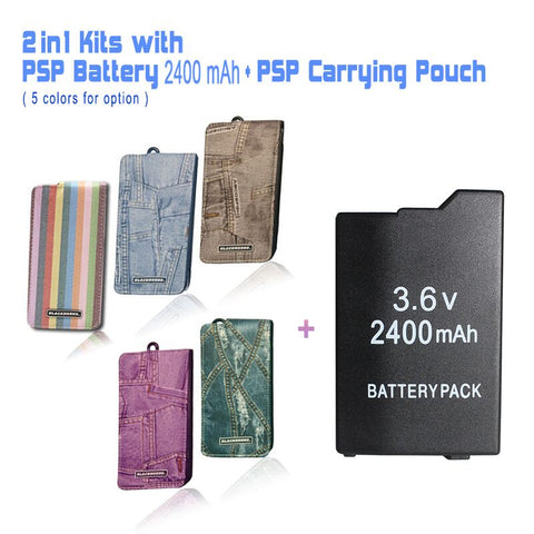 PSP Travel Pouch with PSP Battery Cover Case for Sony PSP 2000/ 3000