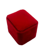 Engagement/Wedding Velvet Wrap Plastic Box Ring Case