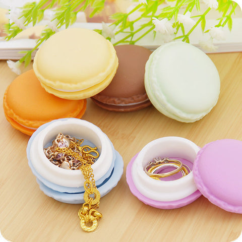 Colorful Macaroon Design Jewelry Case