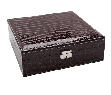 Glossy Fashion Leather Large Jewelry Organizer Case