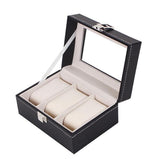 12 Slots Luxurious PU Leather Watch Organizer Case