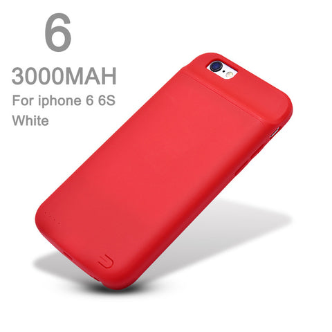 Ultra-thin Magnetic Battery Charger Cover Case for iPhone 6/ 6s/ 7/ 8/ 8 Plus (3000/4000mAh)