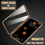 LUPHIE Luxury Double sided glass Metal Magnetic Case for iPhone XS MAX iPhone X XR 7 8