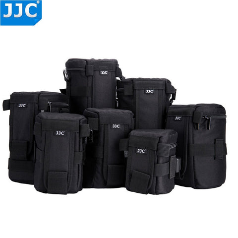JJC Nylon Deluxe Case Water-resistant Protector Lens Bag for DSLR