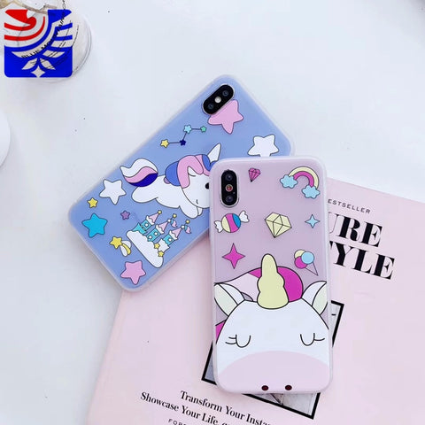 PEIPENG Cute 3D Transparent Cupid Angel Phone Case for iphone 6 6S 7 8 Plus X XR Xs Max
