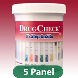 Five Panel DrugCheck Test Cup