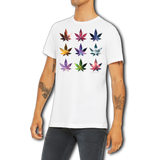 Funny Boutique T Shirt by Weed Apparel. Show off the night sky with pot leafs covered in stars. Cosmos on each leaf, just a peek of the galaxy.