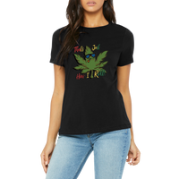Funny Boutique T Shirt by Weed Apparel. Let them know, Thats How I Roll. With Rasta colored text and friendly pot leaf.
