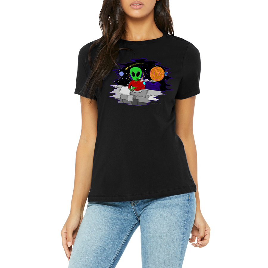 Men's / Unisex Black Shirt Wacky In Space T-Shirt by Weed Apparel.  Awesome Designs to blow you away!