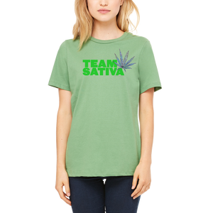 Green Team Sativa T-Shirt by Weed Apparel.  Stoner Women everywhere this makes a great gift!