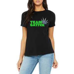 Humorous Team Sativa Boutique T Shirt by Weed Apparel. Blaze up with your friends! Show off you Shirt!