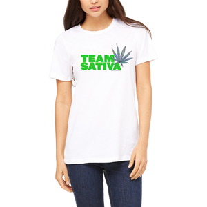 Funny Boutique T Shirt by Weed Apparel. Show off the weed you love Team Sativa. Support your team with this shirt and blaze up on a great sativa bud.