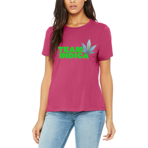 Pink Team Indica Boutique T Shirt by Weed Apparel. Huge selection of stoner shirts!
