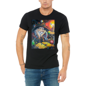 Men's / Unisex High Wizard and Stoned Dragon T Shirt by Weed Apparel. Great Gift for your Fantasy Loving Cannabis enthusiasts!
