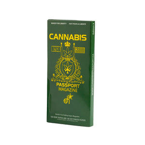 David Irving Cannabis Passport. Rolling papers and a weed magazine that doubles as filters.