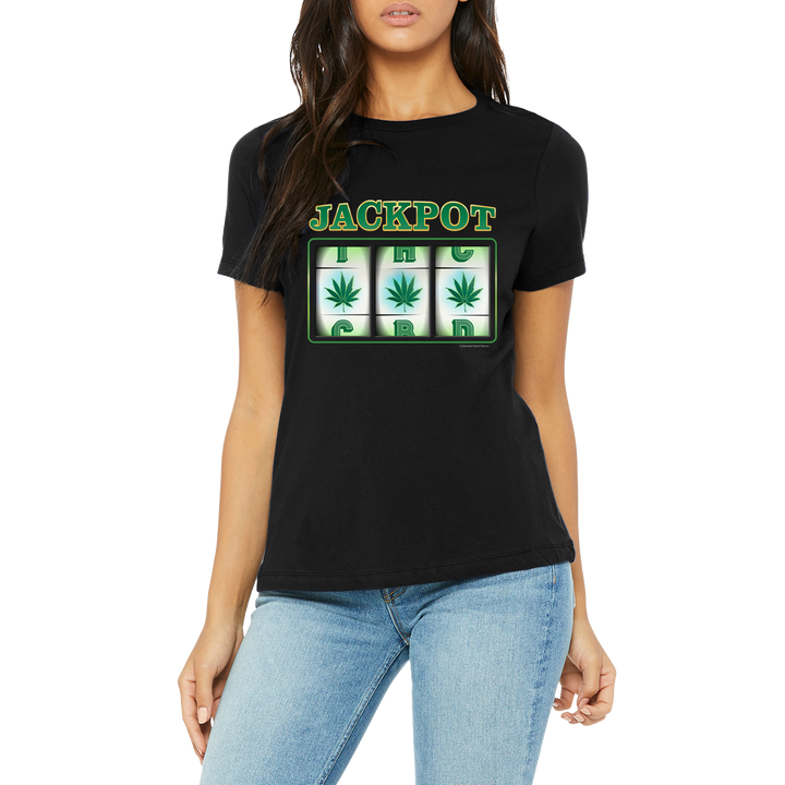 Weed apparel boutique funny t-shirt. Slot machine. Womens T-Shirt