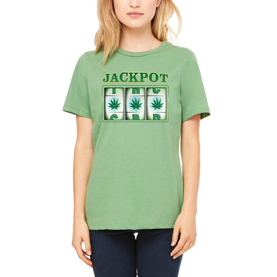 Weed apparel boutique funny t-shirt. Slot machine. Winner for all cannabis enthusiasts.