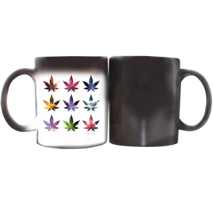 Stoner Coffee Cup - White and Magic Mug Weed Cosmos