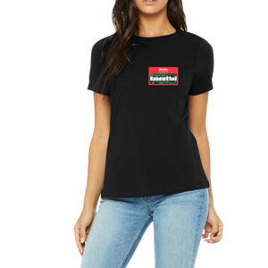 T-Shirt Womens Funny Hello My nave is essential