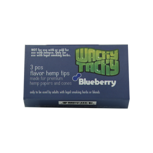 Wacky Tacky Flavor Hemp Filters Blueberry for your Blunts, Joints and Cones. Fun Flavors!