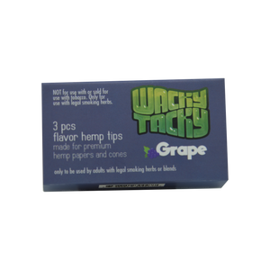 Wacky Tacky Flavor Hemp Filters GRAPE disposable cigarette or joint filter.