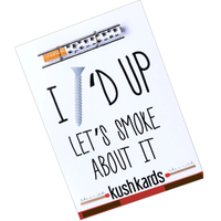 KushKards -I SCREWED UP LET'S SMOKE ABOUT IT- Cannabis Friendly Friendly Greeting Card - Apology