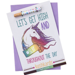 KushKards - LET'S GET HIGH AND #SLAY THROUGHOUT THE DAY - Weed Enthusiast Greeting Card - General