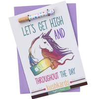 Kush Cards. 420 friendly greeting cards. Lets get high and #slay throughout the day.