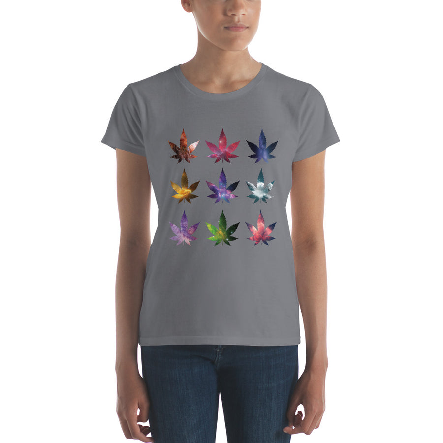 Dark Grey Weed Cosmos Short Sleeve T-Shirt by Weed Apparel. Great Gift for your 420 friends!