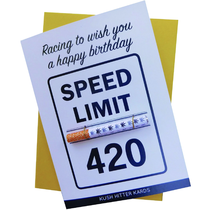 Happy birthday to your stoner friends with this stoner greeting card by Kush Cards.