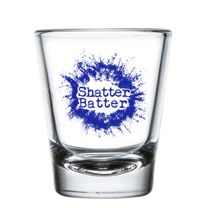 Clear Shatter Batter Shot Glass for Drinking, and Mixing your Wax, Shatter or Butter w/our Juice