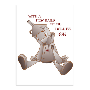 Stoner Daze Greeting Card Tin Man - Get Well Soon
